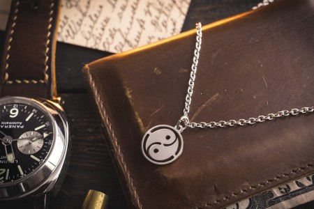 Moiz - Small Stainless Steel Men's Necklace with a Ying Yang Pendant