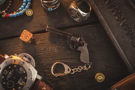 Revolver Mini Pistol Keychain