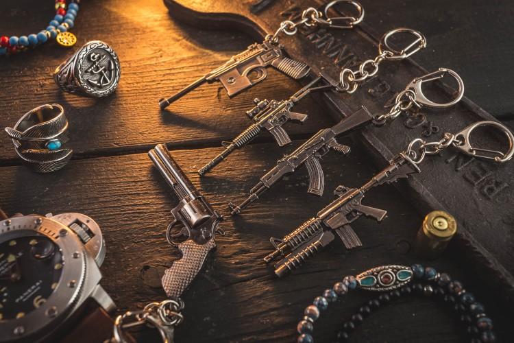 AK-47 Kalashnikov Mini Assault Rifle Keychain from STRAPSANDBRACELETS
