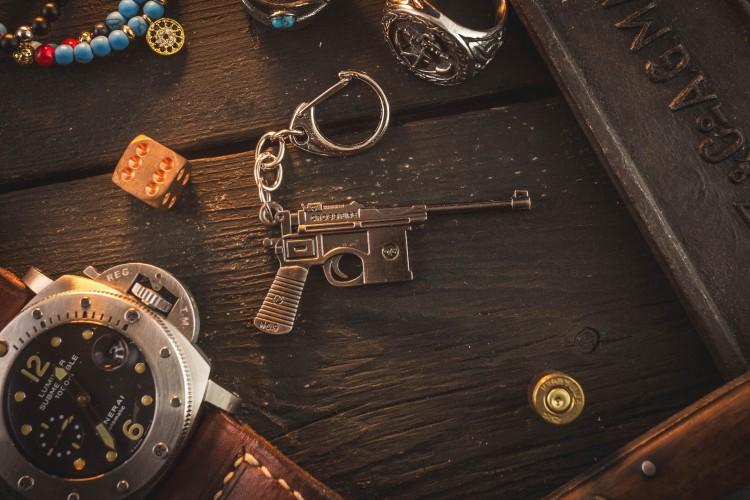 Mauser C96 Mini Pistol Keychain from STRAPSANDBRACELETS