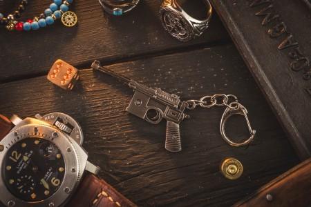 Mauser C96 Mini Pistol Keychain