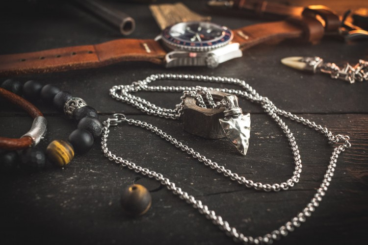 Reydard - Stainless Steel Men's Necklace With An Arrow Head Pendant
