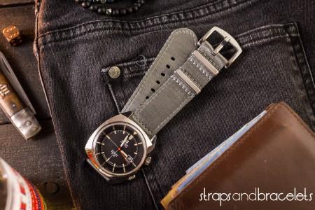 Gray premium Seat Belt Two Piece Watch Strap (20 & 22mm)