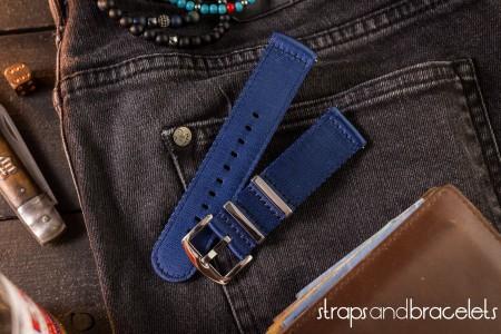 Dark Blue premium Seat Belt Two Piece Watch Strap (20 & 22mm)
