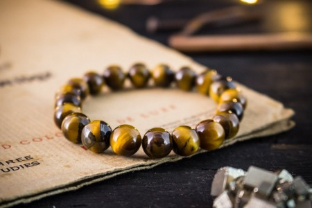 Ayrton - 10mm - Tiger Eye Beaded Stretchy Bracelet