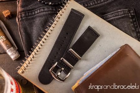 Black premium Seat Belt Two Piece Watch Strap (20 & 22mm)