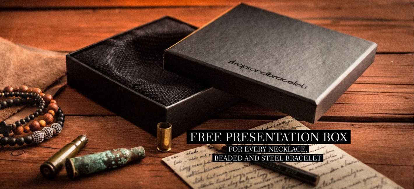 Free Presentation Box for every necklace, beaded and steel bracelet