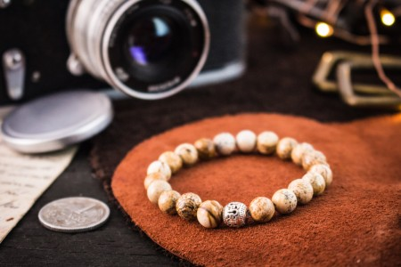 Alexios - 8mm - Jasper Stone Beads Stretchy Bracelet