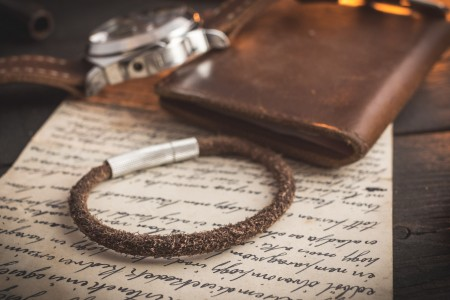 Rhuben - Brown Genuine Suede Leather Braided Cord Bracelet