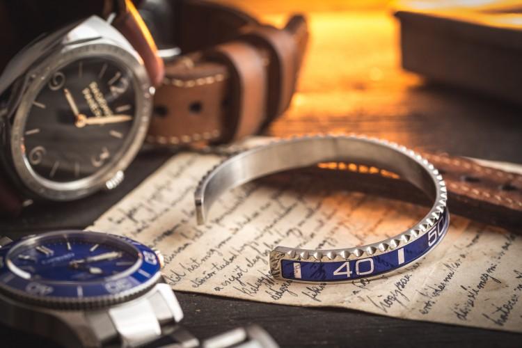 Blue Submariner Bezel Stainless Steel Bangle
